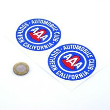 AAA SoCal Stickers Classic Car Vintage Vinyl Decals 75mm x2 Cali Automobile Club
