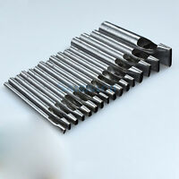 18 types Oblate Elliptical Leather Punch Craft Hole Tool Belts Trimming Full Set