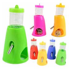 2in1 Small Animal Hamster Dispenser With Base Nest Water Bottle Holder Pet SA2
