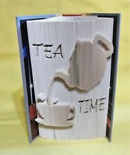 TEA TIME TEAPOT 3D FOLDED BOOK ART SCULPTURE UNIQUE GIFT