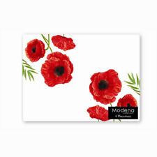 4 X POPPY POPPIES RED FLORAL FLOWER CORK DINING DINNER PLACEMATS PLACE MATS