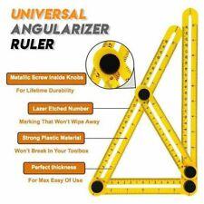 Measuring Ruler Aluminum Folding Positioning Ruler With Metal Screws Tool !