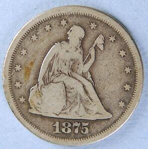 1875 S SEATED LIBERTY TWENTY CENT PIECE *7310