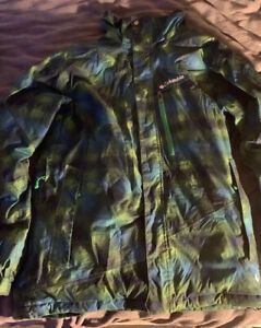 Men's Columbia Ski Jacket Medium (M) Blue/Green