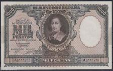 RARO BILLETE ESPAÑA - 1.000 PESETAS AÑO 1940 - BARTOLOME MURILLO - SERIE A