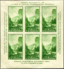SCOTT#751, 1c NATIONAL PARKS SOUVENIR SHEET OF 6⭐⭐⭐⭐⭐⭐
