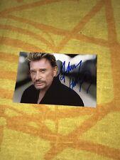 Johnny Hallyday Photo Dedicace Autograph Mon Pays C'est L'amour