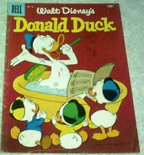 "Walt Disney's Donald Duck 45, FN- (5.5) ""Dogcatcher Duck"" RARE BARKS BACK COVER!"