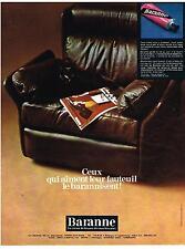 PUBLICITE  1969   BARANNE  cirage pour Fauteuil