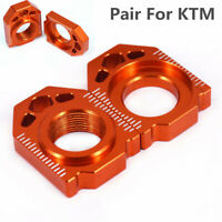 2Pcs Rear Chain Adjuster Block For SX XC SXF 85 125-450 EXC XCF XC-W 125-530