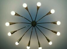 CEILING CHANDELIER SPIDER  BRASS O  50s  STILNOVO ARTELUCE,LELLI,BRASS LAMP