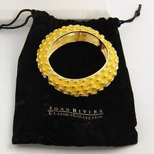 ESTATE QVC Jewelry JOAN RIVERS YELLOW & GOLD CHUNKY STRETCH BANGLE BRACELET