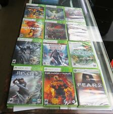 12 SEALED USED GAMES   MAX PAYNE 3,SACRED 3,FEAR 2, DIABLO,CRACKDOWN 2, RISEN 3.