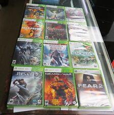 12 SEALED USED GAMES   MAX PAYNE 3,SACRED 3,FEAR 2, DIABLO,CRACKDOWN 2, RISEN 3.