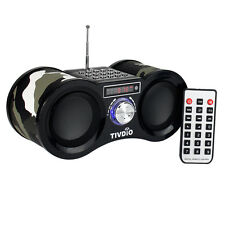 Portable FM Stereo Radio Speaker MP3 Music Player Mini Digital Camouflage USB TF