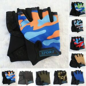 for Cycling Gloves Anti-slip Bicycle Children Climbing Cycling Fingerless