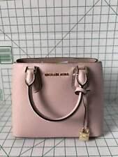 Michael Kors Handbag Adele Medium Mercer Messenger Leather Satchel  Blossom