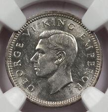 NEW ZEALAND 1943 3 Pence Silver Coin NGC MS63 Choice BU KM# 7