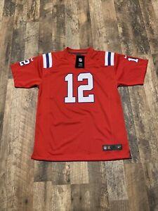 Nike On Field NFL Jersey New England Patriots Tom Brady Youth Sz XL NWT $75
