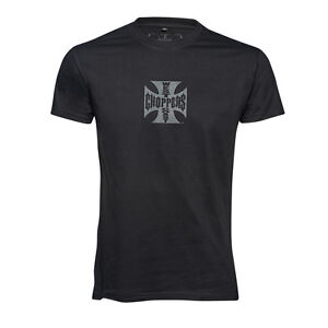 WEST COAST CHOPPERS OG CROSS T-SHIRT - SOLID BLACK **BRAND NEW & IN STOCK**