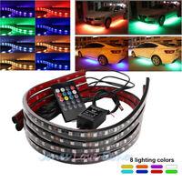 6/12X RGB LED Strip Under Car Underglow Underbody System Neon Lights Waterproof