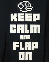Flappy Bird NEW Men's 2XL T-shirt NWT Graphic Tee Mens Navy Cotton XXL