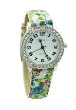 Armbanduhren aus Kunstleder mit Silber-Armband für Damen