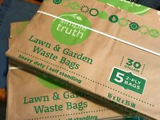Simple Truth 30 Gallon Paper Yard Waste Bags 10 Count Heavy Duty Lawn Leaf Bags