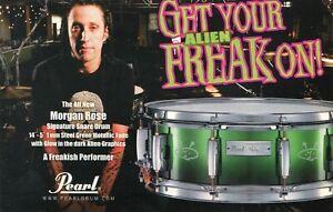 2008 small Print Ad of Pearl Signature Series Alien Freak Morgan Rose Snare Drum