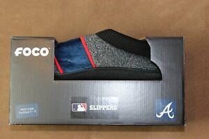 Atlanta Braves Foco Slippers Size L (11-12) New in Box