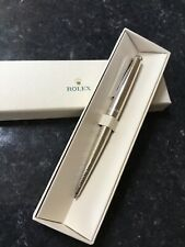 More details for rolex silver wave design ballpoint pen new and boxed