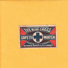 VINTAGE Match Matchbox Label DEEP RICH COLOR The Blue Cross Nitedals Nicked  B1