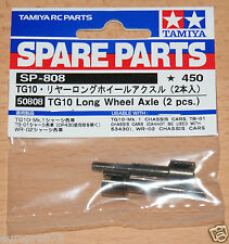 Tamiya 50808 TG10 Long Wheel Axle (2 Pcs.) (WR02/WR02G/Wild Willy 2/GF-01/TT02T)