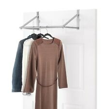 Over The Door Clothes Hanging Organizer Rack Bar Valet Hook Hanger Space Saver