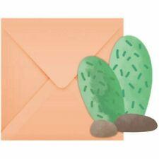 Llama Party Die Cut Invitations & Envelopes x 6