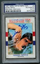 Mark Spitz 1991 Impel US Olympic HOF #2 signed autograph auto PSA/DNA Slabbed