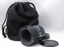 """ Excellent +++ ! ""  Nikon AF Micro-Nikkor 60mm f2.8 with Soft case    #EL314"