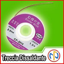 Treccia 2 mm Trecciolla Dissaldante lunga 1,5mt