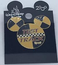 Test Track Logo Mickey Head Icon Wdw 2000 logo New On Original Card Disney Pin