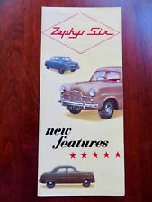 New listing Original 1954 Ford Zephyr Six Full Color Brochure Vg+