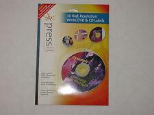 Pressit/Neato Self-Adhesive A4 labels: 2CD/sheet 15sheets High-Resolution (Matt)