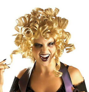 Adults Ghouldilocks Wig Gothic Zombie Blonde Fancy Dress Halloween Costume Acces
