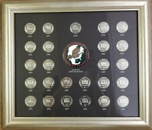 National Wild Turkey Federation NWTF 1978-2000 Stamp Coin Collection Framed