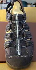 Clarks Womens Vapor Mist 11W Navy Leather Fisherman Sport Sandals NEW