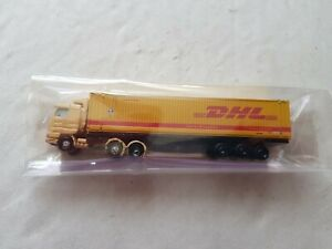 A Model Die Cast DHL Articulated Lorry In N Gauge By Unknown Make Unboxed