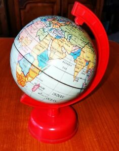 Vintage Children's/Desk Tin Rotating World Globe