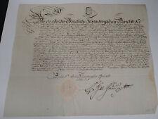 Schnörkel-Geburtsbrief Schloss Mutzschen 1804 für Johann Christian Haubold *1784