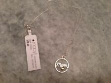 """Brand NEW - Macy's Jewelry .925 Sterling Silver """"Mom"""" Necklace - Free Ship"""
