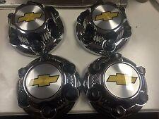 "4pcs. Chrome Chevy Silverado 1500 Tahoe 6 Lug Center Caps 16"" 17"" Steel Wheels"