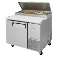 """Turbo Air TPR-44SD-N 44"""" Pizza Prep Table Stainless Louver"""